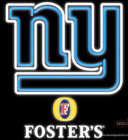 Fosters New York Giants NFL Neon Sign