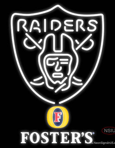 Fosters Oakland Raiders NFL Neon Sign