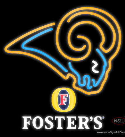 Fosters St Louis Rams NFL Neon Sign   x