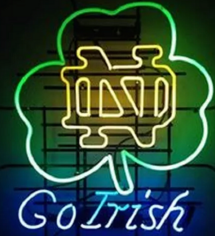 Go irish neon sign