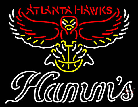 Hamms Atlanta Hawks NBA Neon Beer Sign