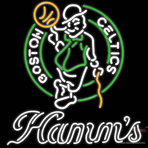 Hamms Boston Celtics NBA Neon Beer Sign
