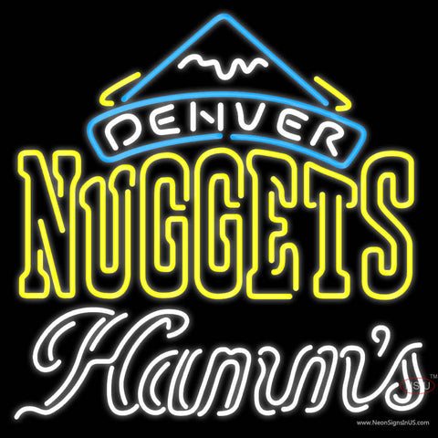 Hamms Denver Nuggets NBA Neon Beer Sign