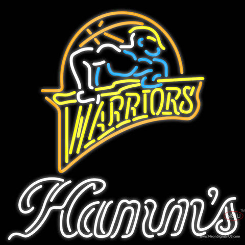 Hamms Golden St Warriors NBA Neon Beer Sign