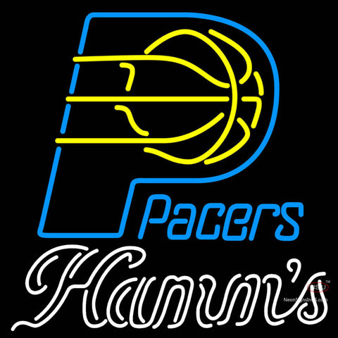 Hamms Indiana Pacers NBA Neon Beer Sign