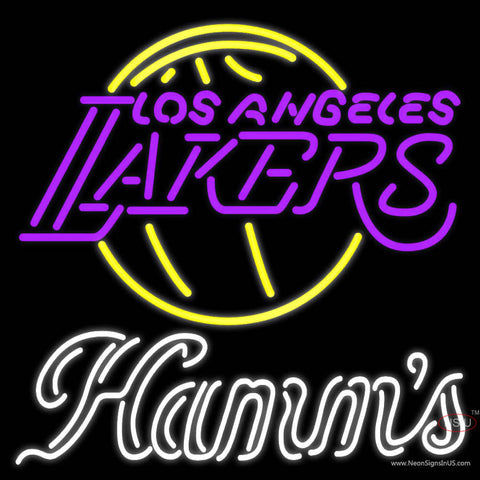 Hamms Los Angeles Lakers NBA Neon Beer Sign