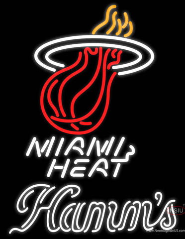 Hamms Miami Heat NBA Neon Beer Sign