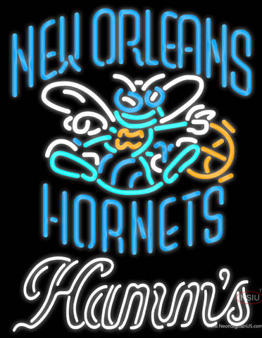 Hamms New Orleans Hornets NBA Neon Beer Sign