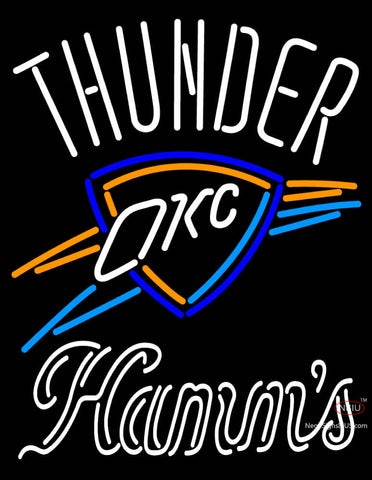 Hamms Oklahoma City Thunder NBA Neon Beer Sign