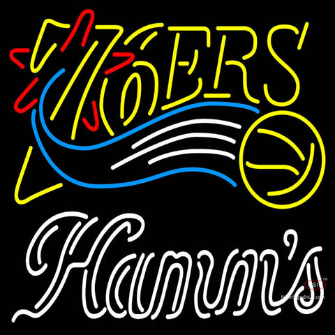 Hamms Philadelphia 7ers NBA Neon Beer Sign