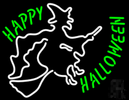 happy halloween neon Sign