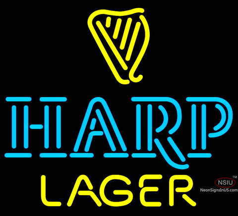 Harp Lager  with Harp Neon Beer Sign x