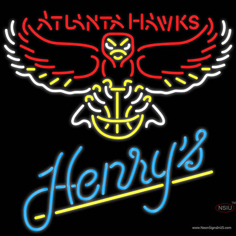 Henrys Atlanta Hawks NBA Neon Beer Sign