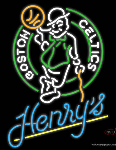 Henrys Boston Celtics NBA Neon Beer Sign