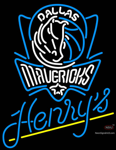 Henrys Dallas Mavericks NBA Neon Beer Sign