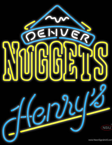 Henrys Denver Nuggets NBA Neon Beer Sign