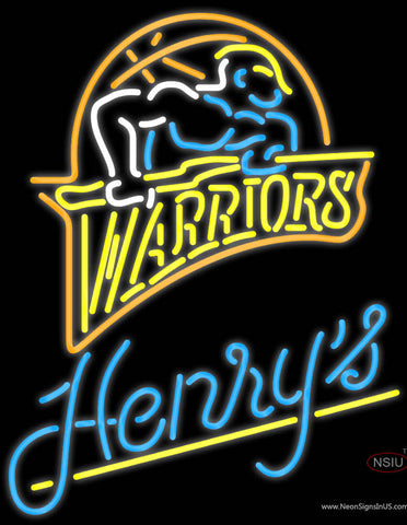 Henrys Golden St Warriors NBA Neon Beer Sign