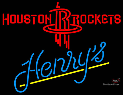 Henrys Houston Rockets NBA Neon Beer Sign