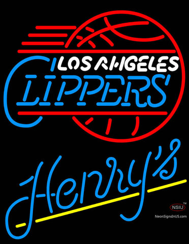 Henrys Los Angeles Clippers NBA Neon Beer Sign