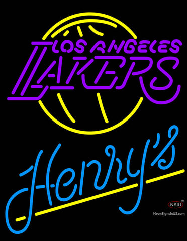 Henrys Los Angeles Lakers NBA Neon Beer Sign
