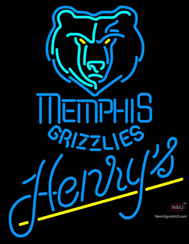 Henrys Memphis Grizzlies NBA Neon Beer Sign