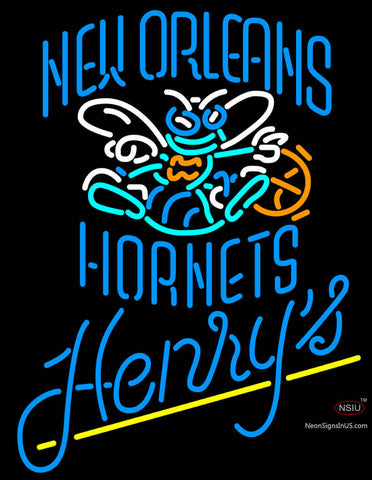 Henrys New Orleans Hornets NBA Neon Beer Sign