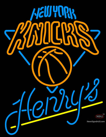 Henrys New York Knicks NBA Neon Beer Sign