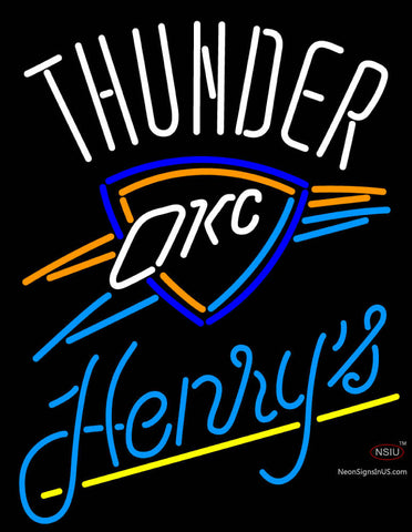 Henrys Oklahoma City Thunder NBA Neon Beer Sign