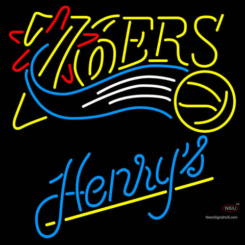 Henrys Philadelphia 7ers NBA Neon Beer Sign