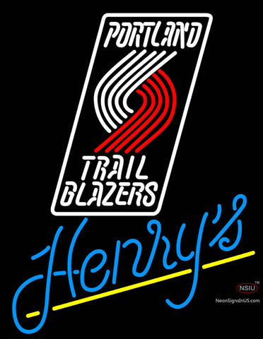Henrys Portland Trail Blazers NBA Neon Beer Sign