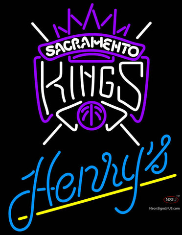 Henrys Sacramento Kings NBA Neon Beer Sign