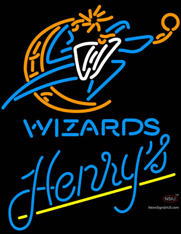 Henrys Washington Wizards NBA Neon Beer Sign