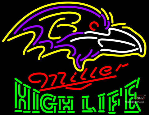 High Life Baltimore Ravens NFL Neon Sign