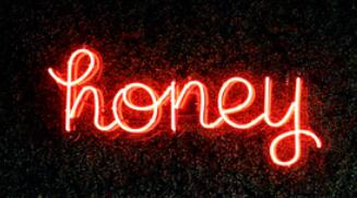 Honey Real Neon Glass Tube Neon Signs