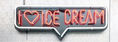 i love ice cream Handmade Art Neon Signs