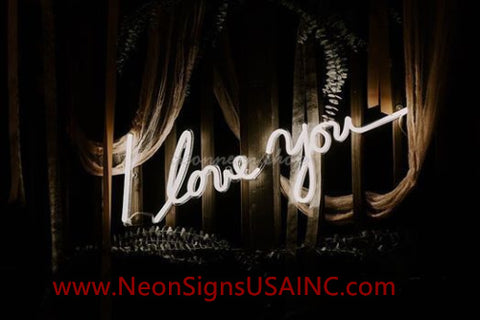I Love You Wedding Home Deco Neon Sign
