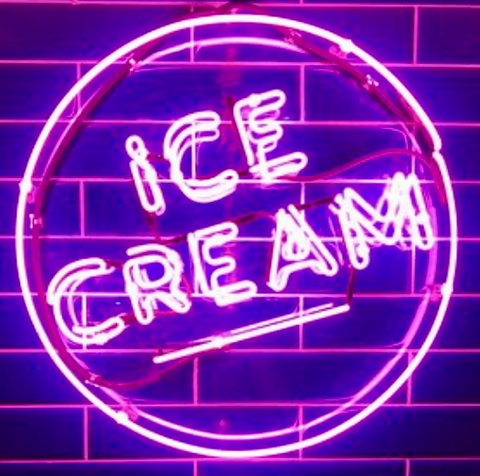 ice cream Real Neon Glass Tube Neon Signs
