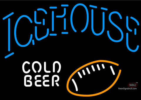 Icehouse Football Cold Neon Beer Sign