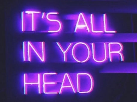 it's al in your head Handmade Art Neon Signs