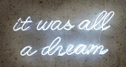 It Was All A Dream Neon Sign Wall Decor Light