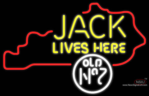 Jack Daniels Jack Lives Here Kentucky Neon Sign