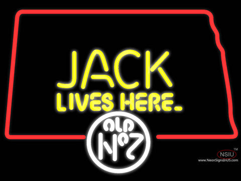 Jack Daniels Jack Lives Here North Dakota Neon Sign