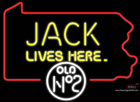 Jack Lives Here Pennsylvania Neon Sign