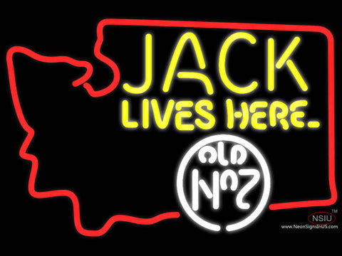 Jack Lives Here Washington Jack Daniels Neon Sign