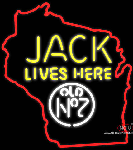 Jack Lives Here Wisconisin Neon Sign