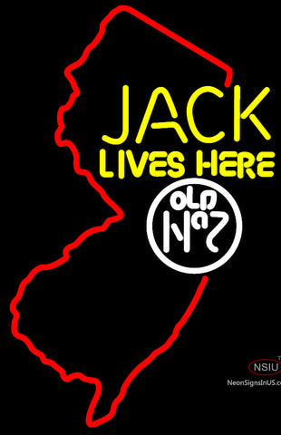 Jacks Live Here New Jersey Neon Sign