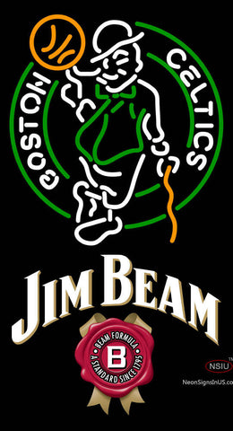 Jim Beam Boston Celtics NBA Neon Beer Sign