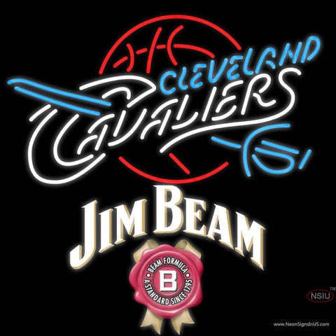 Jim Beam Cleveland Caveliers NBA Neon Beer Sign