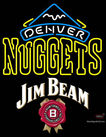 Jim Beam Denver Nuggets NBA Neon Beer Sign