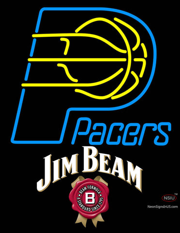 Jim Beam Indiana Pacers NBA Neon Beer Sign